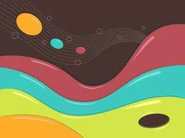 folletos coloridos en estilo líquido vector