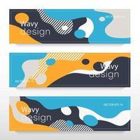 Liquid style flyers vector