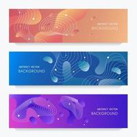 Liquid gradient flayer design vector