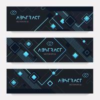 Set of trendy neon style brochures vector