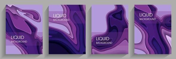 Liquid background in pink and purple tones. vector
