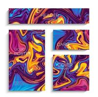 Abstract liquid painting vector