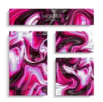 Abstract liquid painting, can be used as a trendy background for wallpapers, posters, cards, invitations, websites. vector