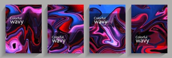 Colorful wavy background vector