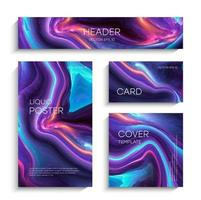 Mixture of acrylic paints. Modern artwork. Trendy design. Marble effect painting. Graphic hand drawn design for design. Contrast, liquid. vector