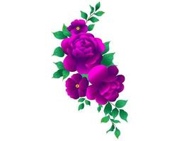 Purple and violet flowers vector design bouquets