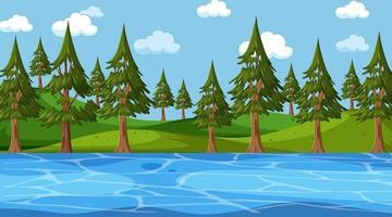 Blank landscape in nature park scene vector