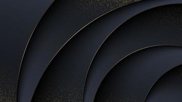 Luxury abstract background in curved style. vector