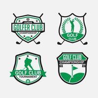 Golf Club Logo Badges vector design templates