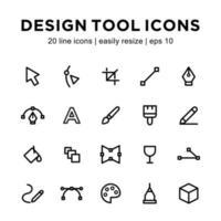 Design tool icon template