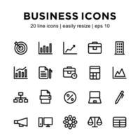plantilla de icono de negocio vector