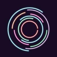 Fondo de círculo de neón abstracto vector