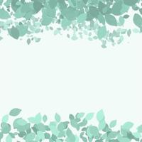 hand painted leaves border vector