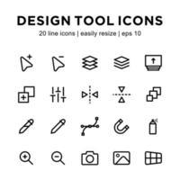 plantilla de icono de herramienta de diseño vector