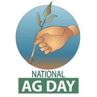 National Agriculture Day Poster vector