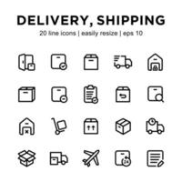 Delivery icon template vector
