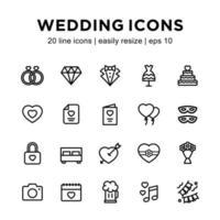 Wedding icon template vector
