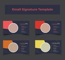 paquete de plantillas de firma de correo electrónico corporativo vector