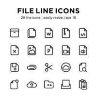 File icon template vector