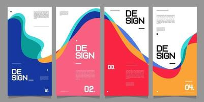 Vector banner design template minimalist style for business