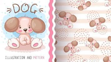 Cartoon character animal dog vector