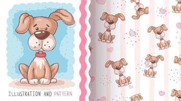 Adoirable cartoon character dog vector