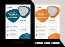 Vector Round corporate flyer template design