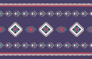 Geometric ethnic pattern traditional design for background vector
