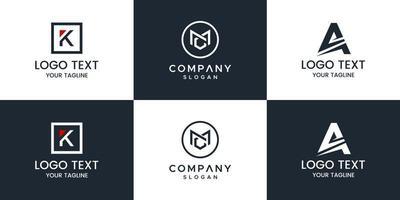 Monogram logo design vector