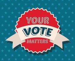 su voto importa en el diseño del vector del sello del sello