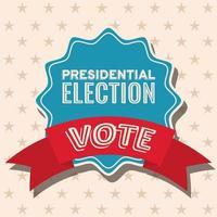 Vote presidential election on seal stamp vector design