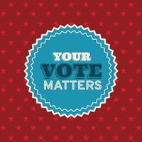 your vote matters on seal stamp vector design