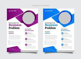 Creative Vector flyer template for corporate office