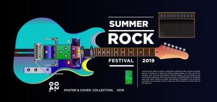Summer rock music festival banner
