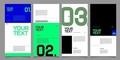 plantilla de diseño de banner de vector estilo minimalista para marca