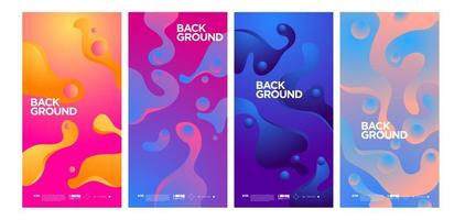 Vector colorful abstract simple background banner