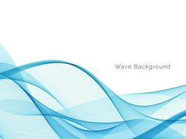 Abstract blue wave design decorative background