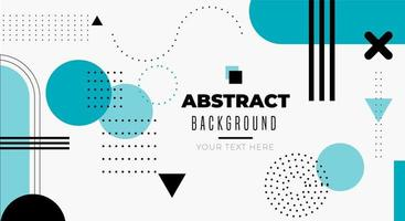 Abstract Clean Background with Geometric shapes vector