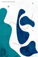 líneas curvas fluidas minimalistas formas fondo abstracto vector