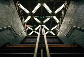 Subway stairs in New York photo