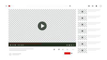 maqueta de videoclip vector