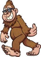 Cool Bigfoot walking vector