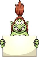 Female troll with sign vector