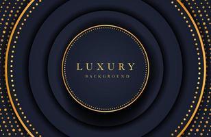 Luxury elegant background with gold element on dark surface. Business presentation layout vector