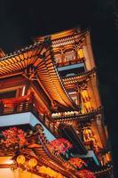 templo en chinatown en singapur foto