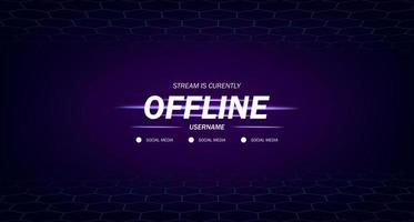 modern background screensaver offline stream gaming with hexagon frame background vector