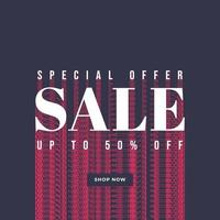 Special offer sale banner template. vector