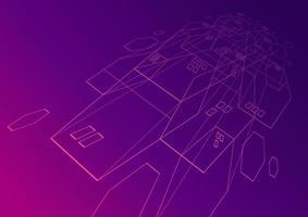 Abstract futuristic line techno background. vector