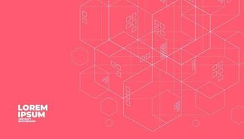 Abstract geometric building concept. Lines minimalistic background. vector