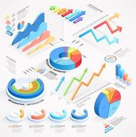 Infographics isometric elements vector illustrations.